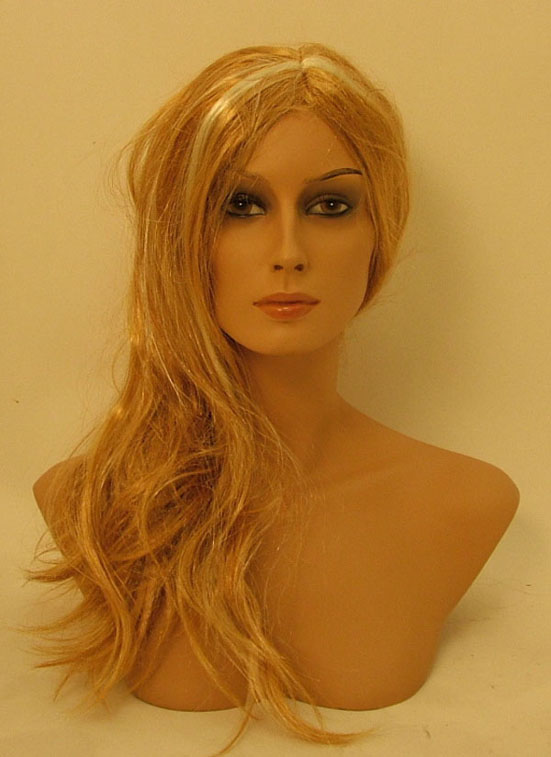 Realistic female Head with wig