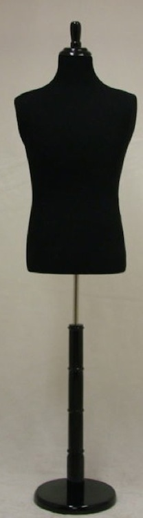 Male Tall Dress Form With Round Base