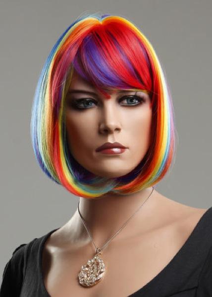 Female Realistic WIG-ZL1028-rainbow
