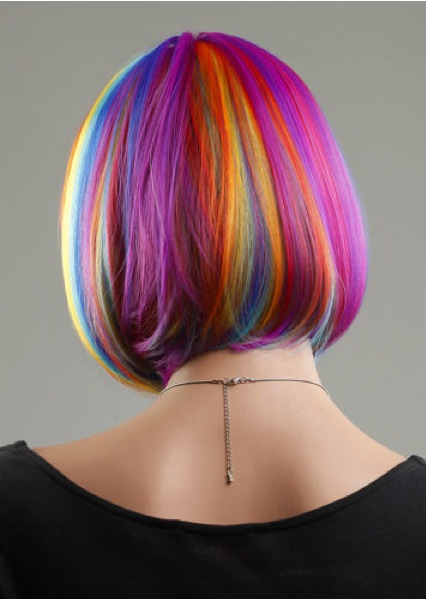 Female Realistic WIG-ZL1028-rainbow